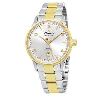 Alpina Men's AL-525S4E3B 'Alpiner' Silver Dial Stainless Steel Two Tone Swiss Automatic Watch