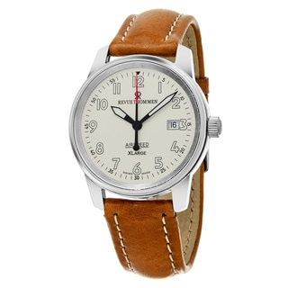 Revue Thommen 16052.2532 'Air Speed XL' Silver Dial Brown Leather Strap Swiss Mechanical Watch