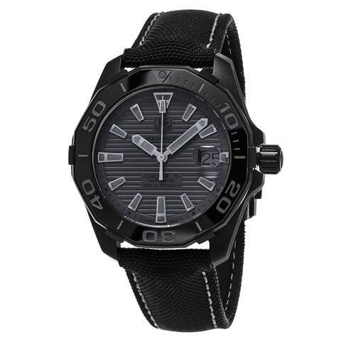 Tag Heuer Men's WAY218B.FC6364 'Aquaracer' Automatic Nylon and Leather Watch