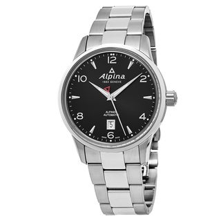 Alpina Men's AL-525B4E6B 'Alpiner' Black Dial Stainless Steel Swiss Automatic Watch