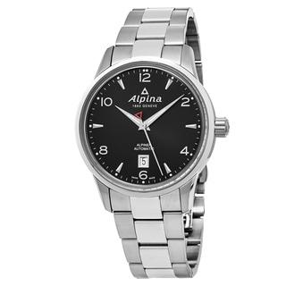 Alpina Men's AL-525B4E6B 'Alpiner' Black Dial Stainless Steel Swiss Automatic Watch