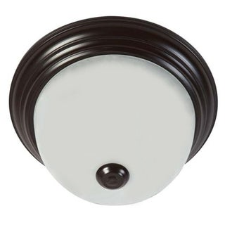 Oil-rubbed Bronze Soft White Glass Flush Mount Ceiling Light Fixture