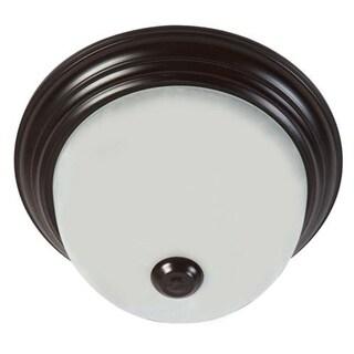 Y-Decor Oil-rubbed Bronze Soft White Glass Flush Mount Ceiling Light