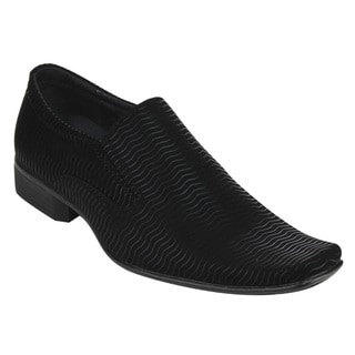 Miko Lotti Men's FD45 Black Slip-on Formal Dress Loafers