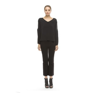 Walter Baker Black Silk Piper Top