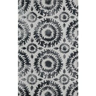 "Momeni Serene Grey Hand-Hooked Runner Rug (2'3 X 7'6) - 2'3"" x 7'6"""