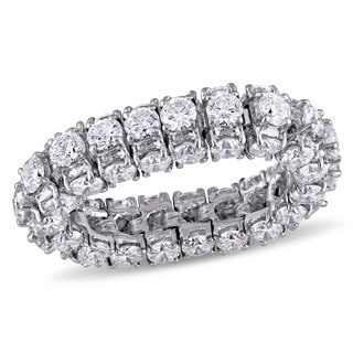 Miadora Signature Collection 18k White Gold 6 1/10ct TDW Diamond Eternity Ring