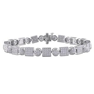 Miadora Signature Collection 14k White Gold 1 4/5ct TDW Diamond Tennis Bracelet