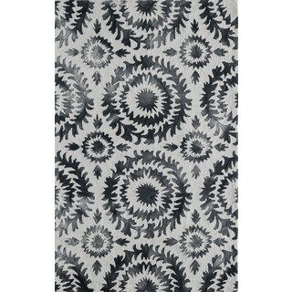 Momeni Serene Grey Hand-Hooked Rug (2' X 3')