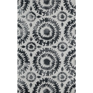 Hand-Hooked Cyprian Polyester Rug (3'6 x 5'6)