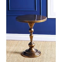 Golden Accent Table With Crystal Geometric Design Free