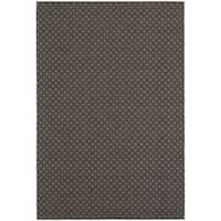 Gracewood Hollow Plamondon Lattice Grey/ Charcoal Indoor/ Outdoor Area Rug - 7'10 x 10'10