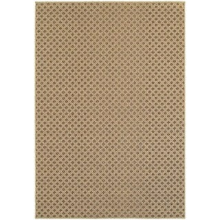 StyleHaven Lattice Brown/ Sand Indoor-Outdoor Area Rug (9'10x12'10)