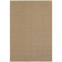 StyleHaven Lattice Brown/ Sand Indoor-Outdoor Area Rug - 7'10 x 11'