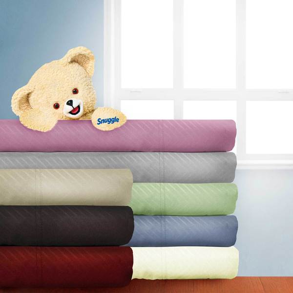 Chevron Embossed 4-piece Microfiber Sheet Set with Deep Pockets by Snuggle