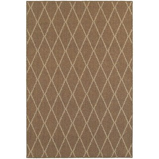 StyleHaven Lattice Brown/ Sand Indoor-Outdoor Area Rug (7'10x10'10)