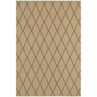 "StyleHaven Lattice Beige/ Sand Indoor-Outdoor Area Rug (9'10x12'10) - 9'10"" X 12'10"""