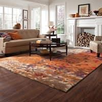 Clay Alder Home Keno Autumn Inspirations Abstract Multi/ Orange Rug - 8' x 10'