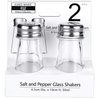 Euro Ware Glass Salt and Pepper Shaker Set