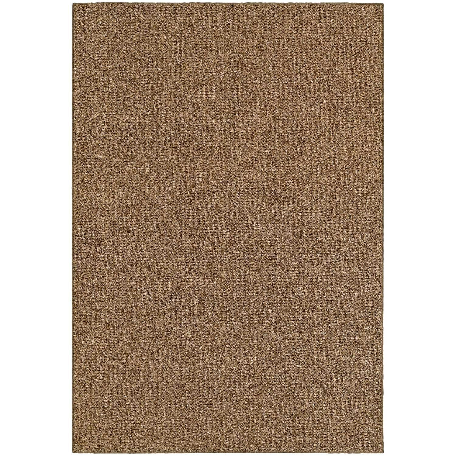 Shop Stylehaven Solid Brown Tan Indoor Outdoor Area Rug 9 10x12 10