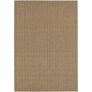 StyleHaven Solid Brown/ Sand Indoor-Outdoor Area Rug (9'10x12'10)
