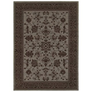 New Traditions Blue/ Grey Rug (9'10 x 12'10)