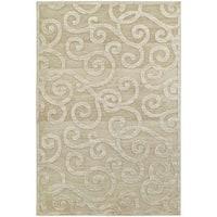 Silver Orchid Cerdan Scrolls Sand/ Beige Rug - 9'10 x 12'10