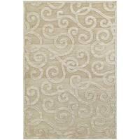 Silver Orchid Cerdan Scrolls Sand/ Beige Rug - 7'10 x 10'10