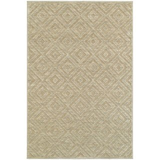 Diamond Plush Sand/ Beige Rug (9'10 x 12'10)