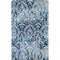 "Momeni Serene Blue Hand-Hooked Rug - 3'6"" x 5'6"""