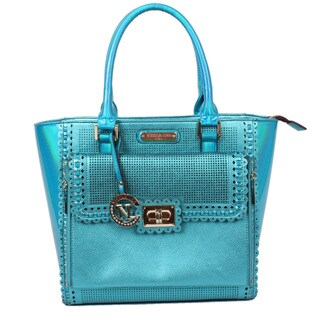 Nicole Lee Zelda Hologram Blue Tote Bag