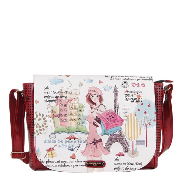 Nicole Lee Shopping Girl Faux Leather 16-inch Laptop Messenger Bag