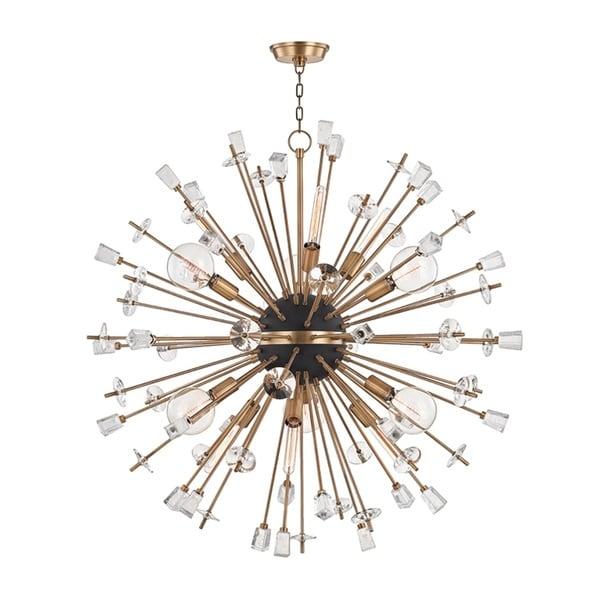 Hudson Valley Liberty 12-Light Aged Brass Chandelier