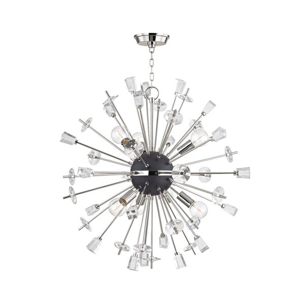 Hudson Valley Liberty 6-Light Polished Nickel Chandelier