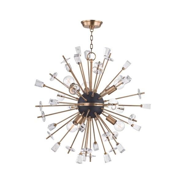 Hudson Valley Liberty 6-Light Aged Brass Chandelier