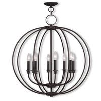 Livex Lighting Milania 8 Light Bronze Chandelier