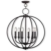 Livex Lighting Milania 6 Light Bronze Chandelier