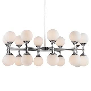 Hudson Valley Astoria 20-Light Polished Chrome Chandelier