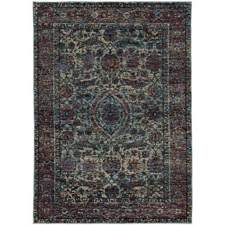 """Adalynn Bordered Floral Traditional Area Rug - 7'10"""" x 10'10"""""""