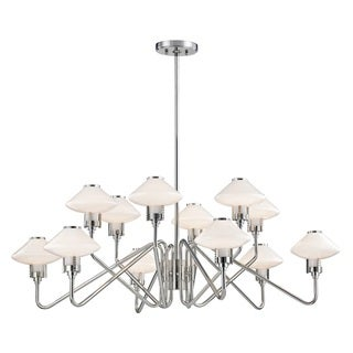 Hudson Valley Knowles 12-Light Polished Nickel Chandelier