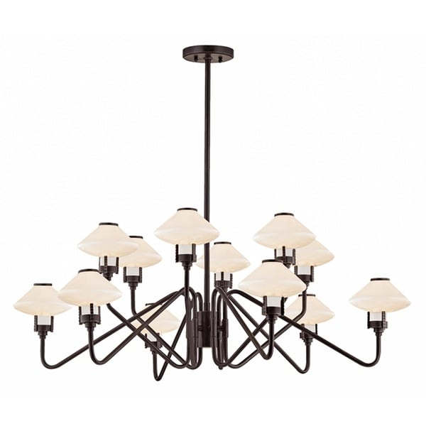 Hudson Valley Knowles 12-Light Old Bronze Chandelier