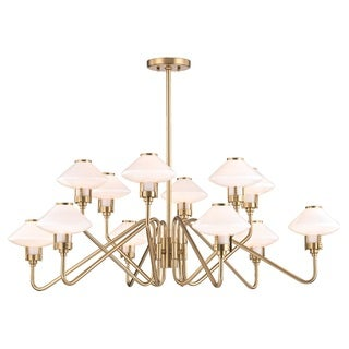 Hudson Valley Knowles 12-Light Aged Brass Chandelier