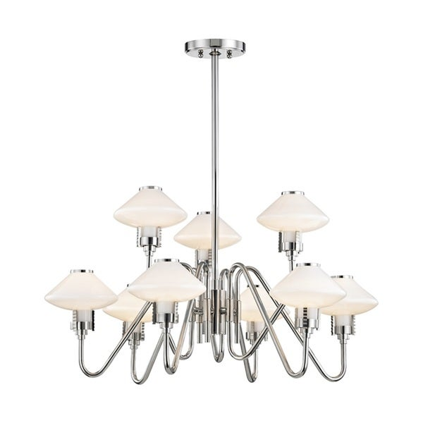 Hudson Valley Knowles 9-Light Polished Nickel Chandelier