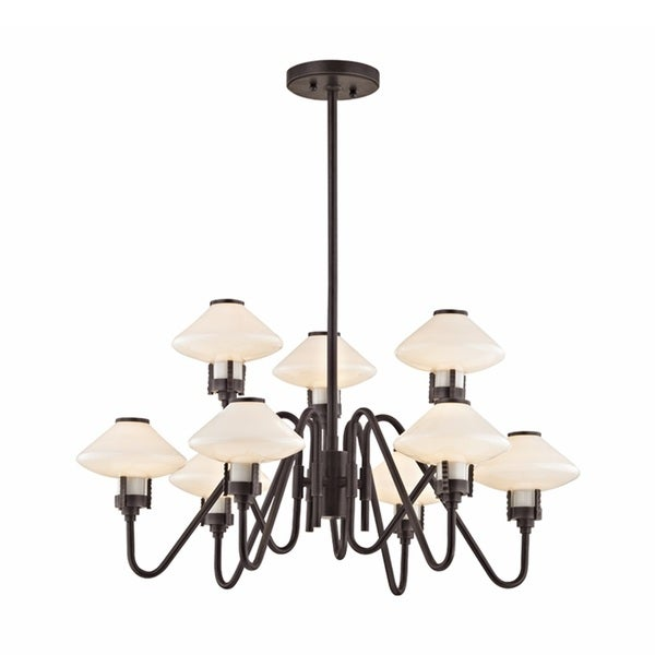 Hudson Valley Knowles 9-Light Old Bronze Chandelier