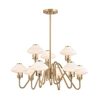 Hudson Valley Knowles 9-Light Aged Brass Chandelier