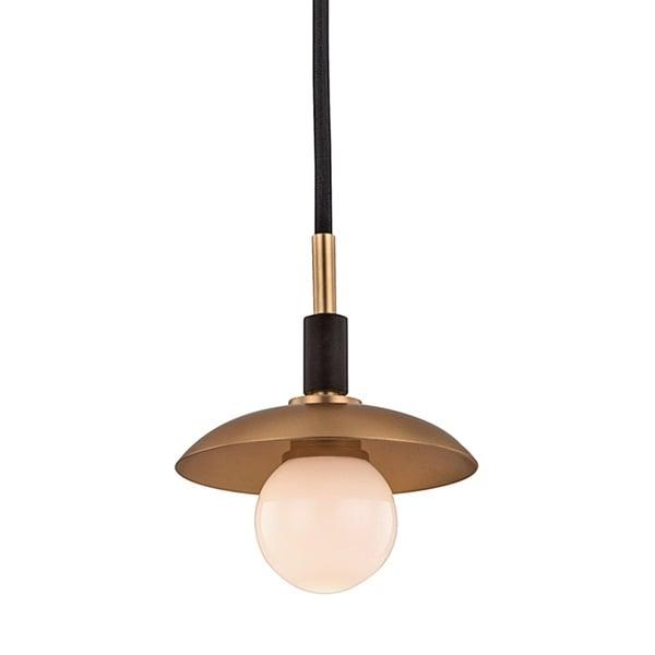 Hudson Valley Julien 1-Light Aged Brass Pendant