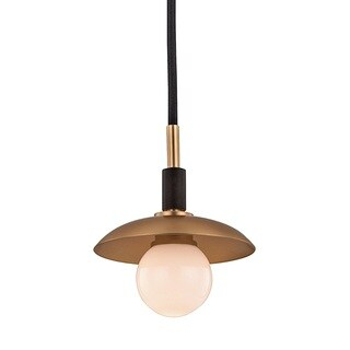 Hudson Valley Julien 1-Light Aged Brass Pendant