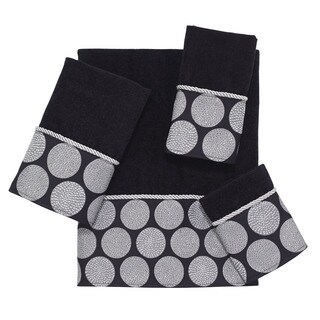 Dotted Circle Border 4-Piece Towel Set