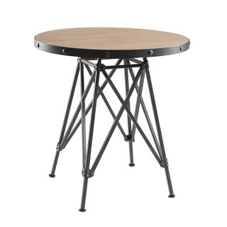 INK+IVY Cooper Graphite Metal Base and Elm Wood Bistro Table