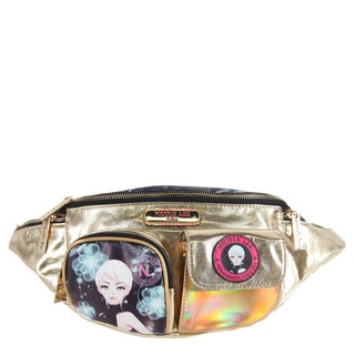 Nicole Lee Erika Print Goldtone Faux Leather/Nylon Fanny Pack